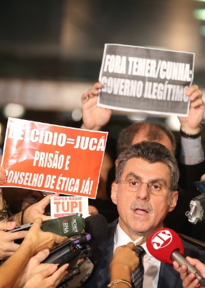 O senador Romero Jucá (PMDB) anunciou sua saída do Ministério do Planejamento