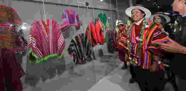 2.fev.2017 - O presidente Evo Morales visita o Museu da Revolução Democrática e Cultural, em Orinoca -  Freddy Zarco/ABI -  Freddy Zarco/ABI