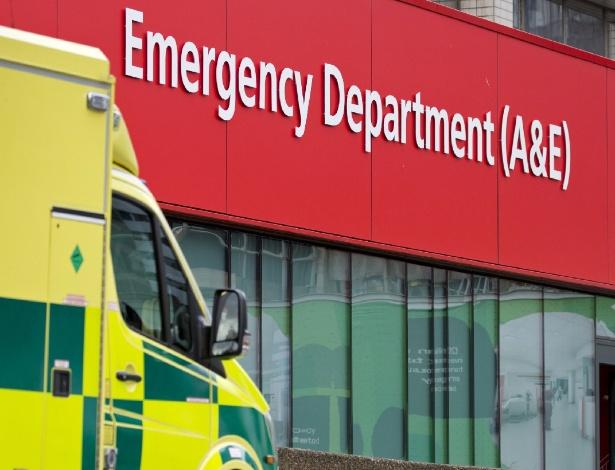 Departamento de acidentes e emergências do hospital St Thomas, em Londres