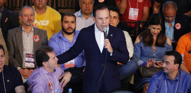 O prefeito de São Paulo João Doria na convenção do partido Solidariedade, em setembro - NELSON ANTOINE/ESTADÃO CONTEÚDO