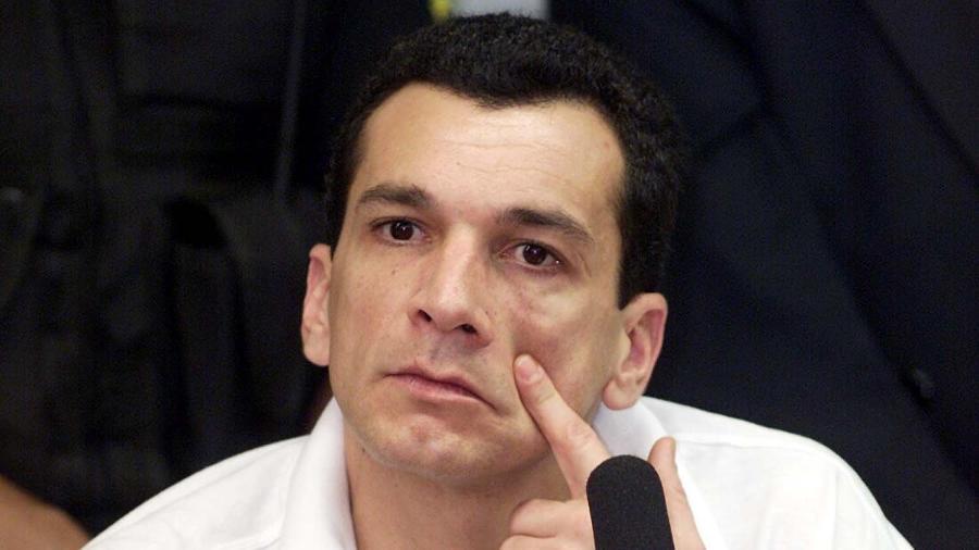 21.ago.2001 - Marcos Willians Herbas Camacho, o Marcola, apontado como líder do PCC - Sergio Lima/Folhapress