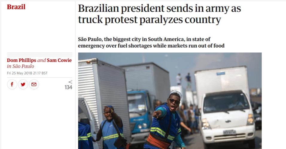 The Guardian chama atenção também para o estado de emergência de São Paulo