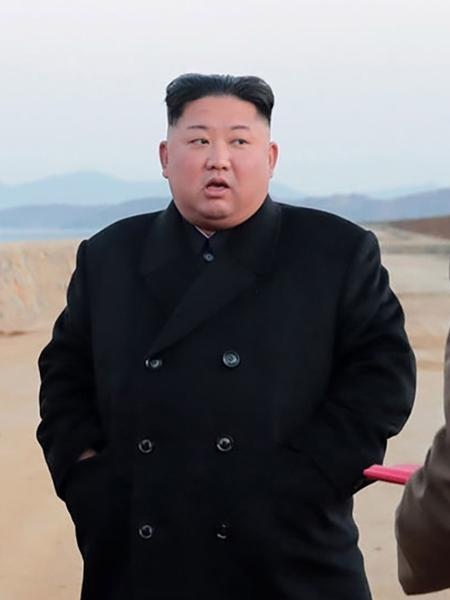 16.nov.2018 - O líder da Coréia do Norte, Kim Jong-un  - KCNA VIA KNS / AFP