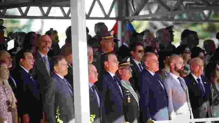 Jair Bolsonaro participa de solenidade no Comando Militar do Sudeste, em São Paulo - Aloisio Mauricio/Fotoarena/Estadão Conteúdo