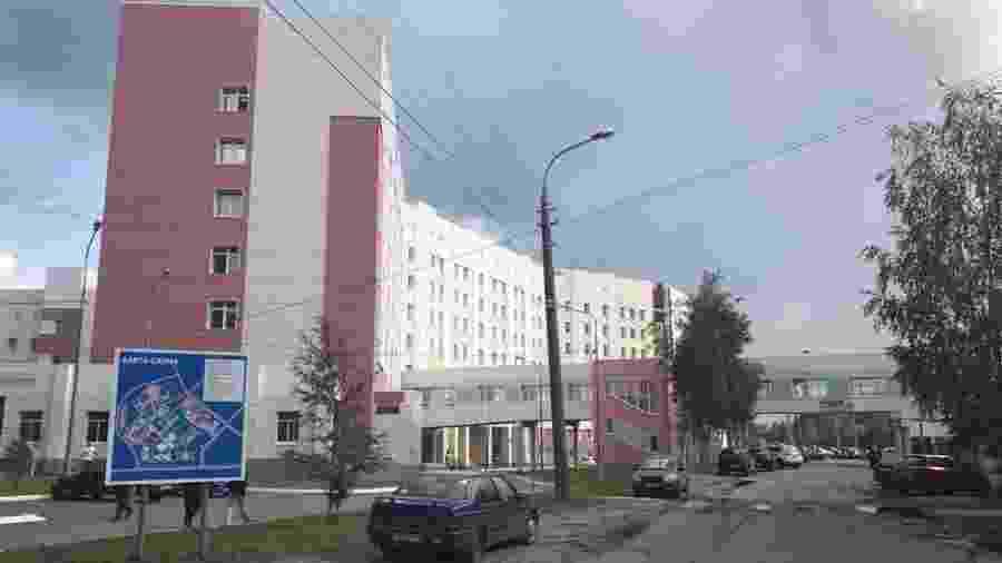 Três vítimas da radiação foram levadas para o hospital regional de Arkhangelsk - BBC