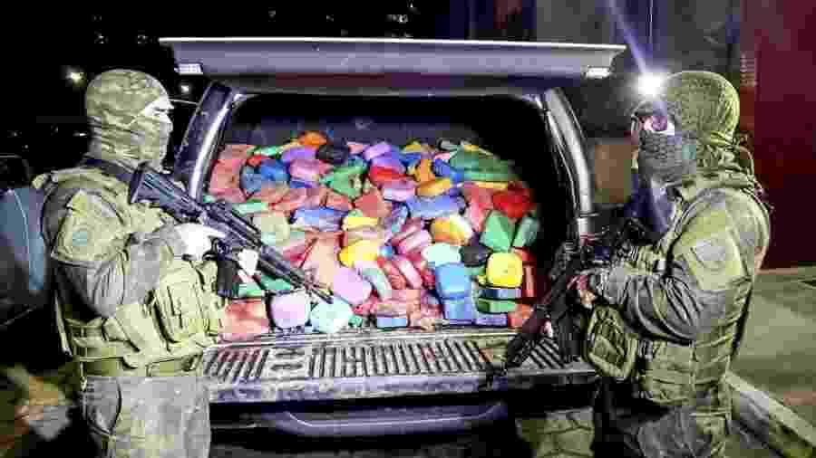 Tabletes de cocaína apreendidos em operação da Polícia Civil do Pará - Divulgação/Polícia Civil-PA