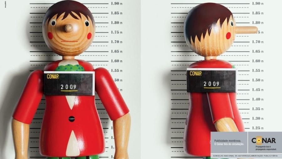 Campanha do Conar, lançada em 2009, fazia alusão a brinquedos infantis - Reprodução
