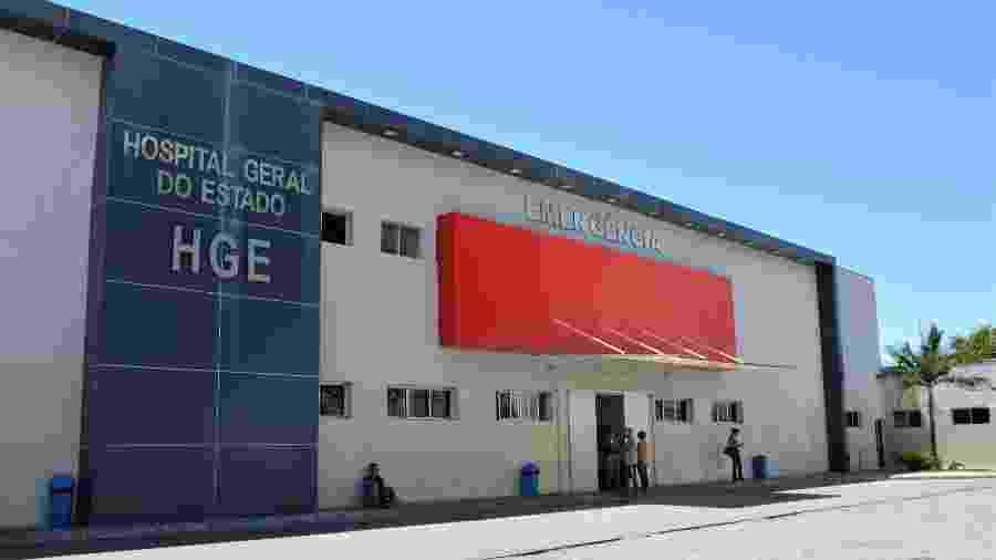 Fachada do Hospital Geral do Estado (HGE), em Maceió - Divulgação