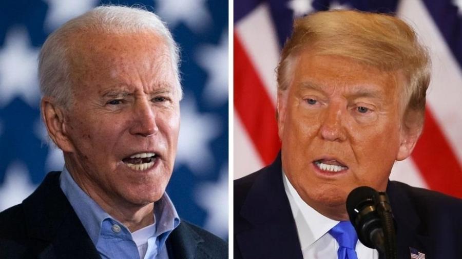 Resultados parciais da eleição presidencial dos EUA entre Donald Trump e Joe Biden animam os mercados financeiros - Getty Images