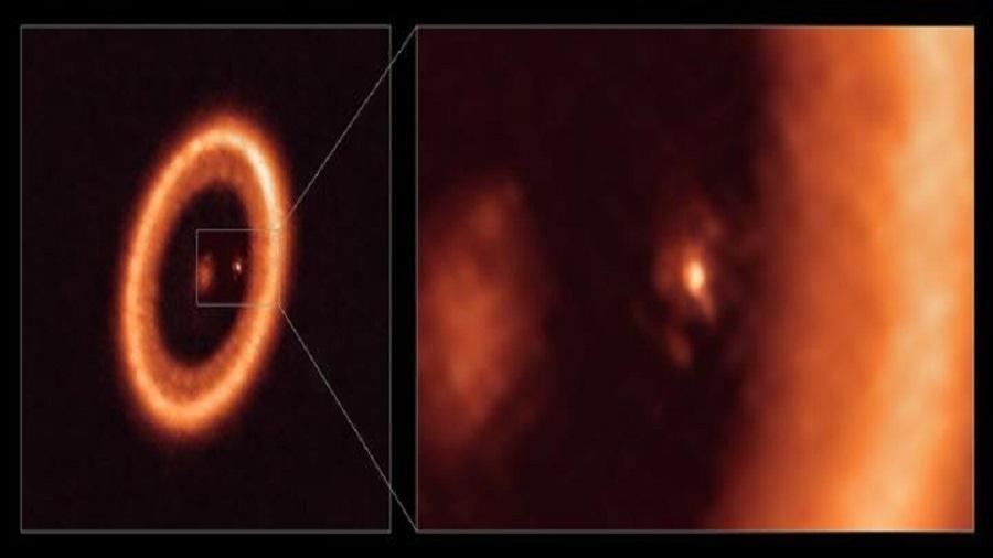 Imagem de formação lunar fora do Sistema Solar - ALMA (ESO/NAOJ/NRAO)/Benisty et al.