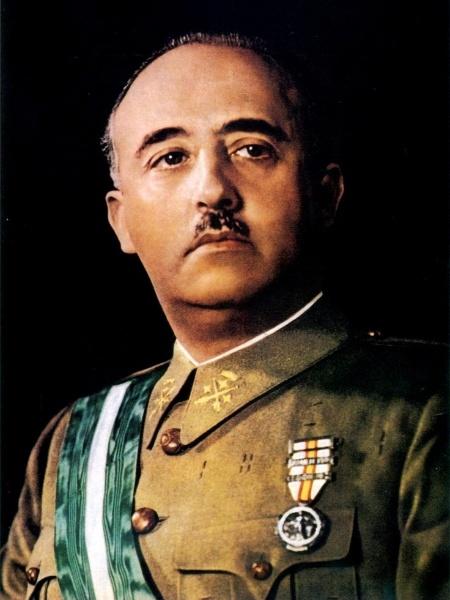O ditador espanhol Francisco Franco - Domínio público