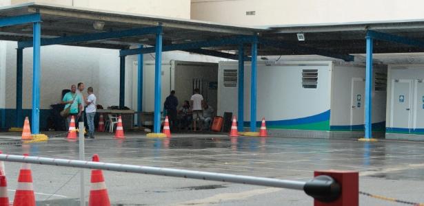 Pátio do Detran no Largo do Machado, vazio um dia após o ínicio da paralisação dos funcionários da empresa que presta serviço nos postos