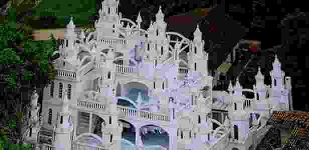 O castelo de Joinville (SC), construído pelo massoterapeuta Leonardo Coradelli durante 20 anos - Leonardo Coradelli/Divulgação - Leonardo Coradelli/Divulgação
