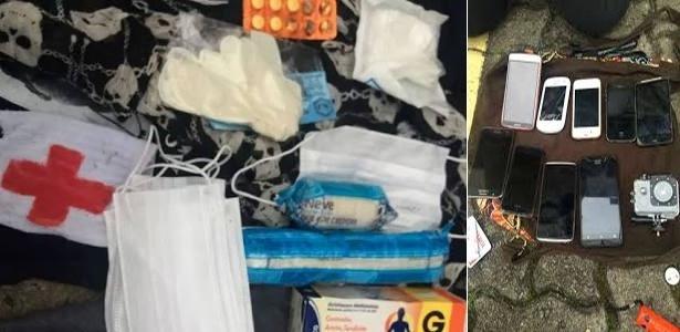 Material apreendido com grupo detido antes de manifestação contra o governo Michel Temer, em São Paulo, tinha itens de primeiros socorros