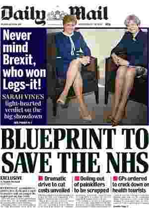 """28.mar.2017 - Capa do """"Daily Mail"""" que provocou enxurrada de críticas - Reprodução"""