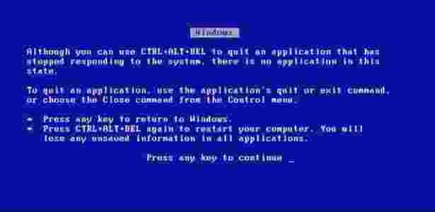 Tela Azul - Windows 3.1 - Reprodução - Reprodução