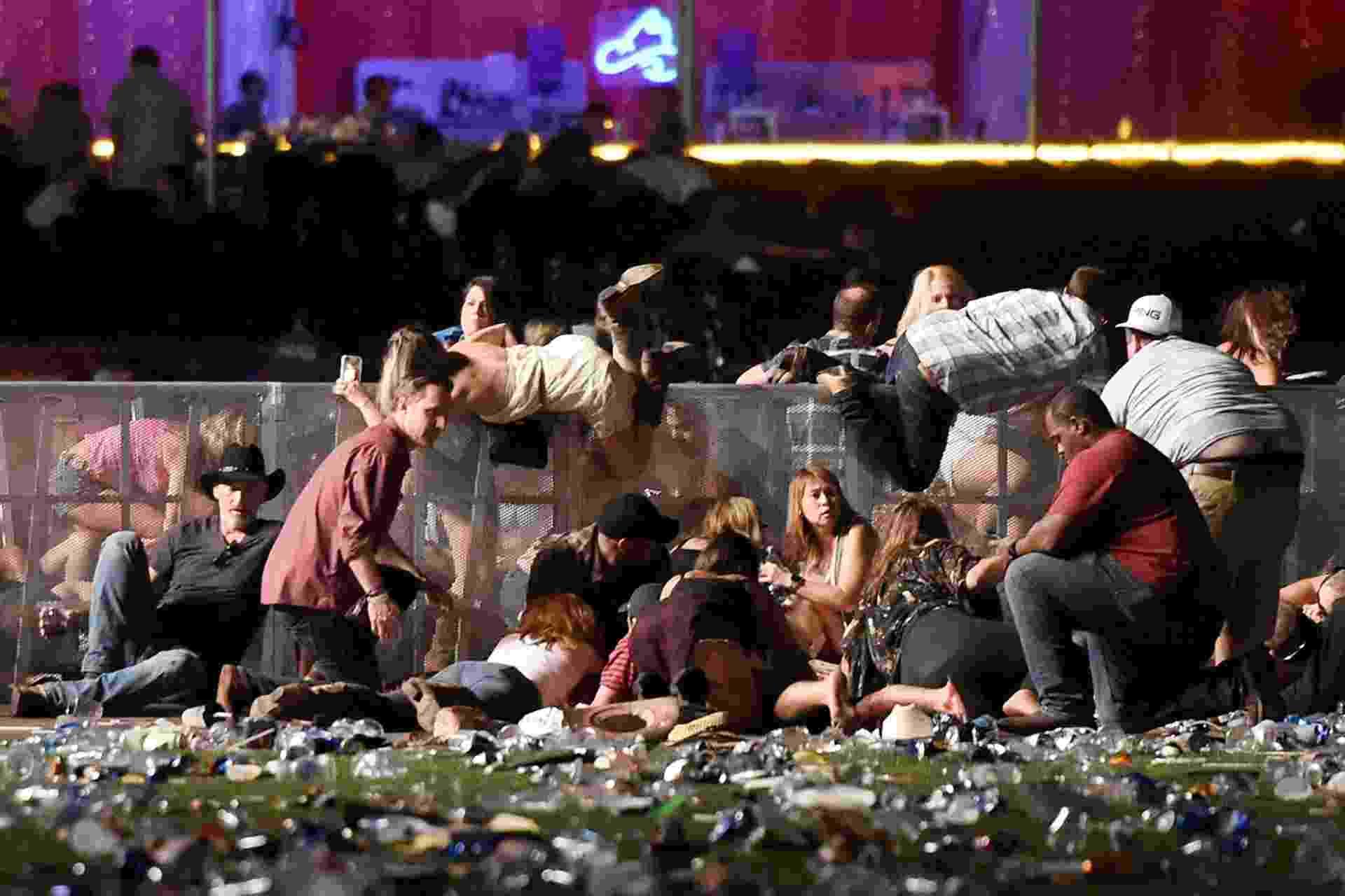 Tiroteio deixa mortos e feridos em festival de música de Las Vegas - David Becker/Getty Images/AFP