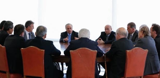 Temer durante reunião com deputados no Planalto - Marcos Corrêa/PR