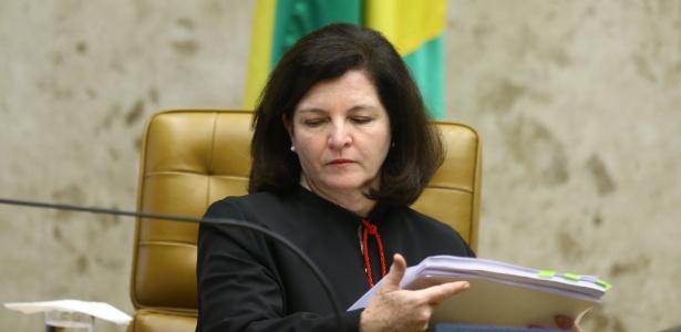 22.mar.2018 - Procuradora-geral da República, Raquel Dodge, durante sessão realizada no plenário da Supremo Tribunal Federal (STF)