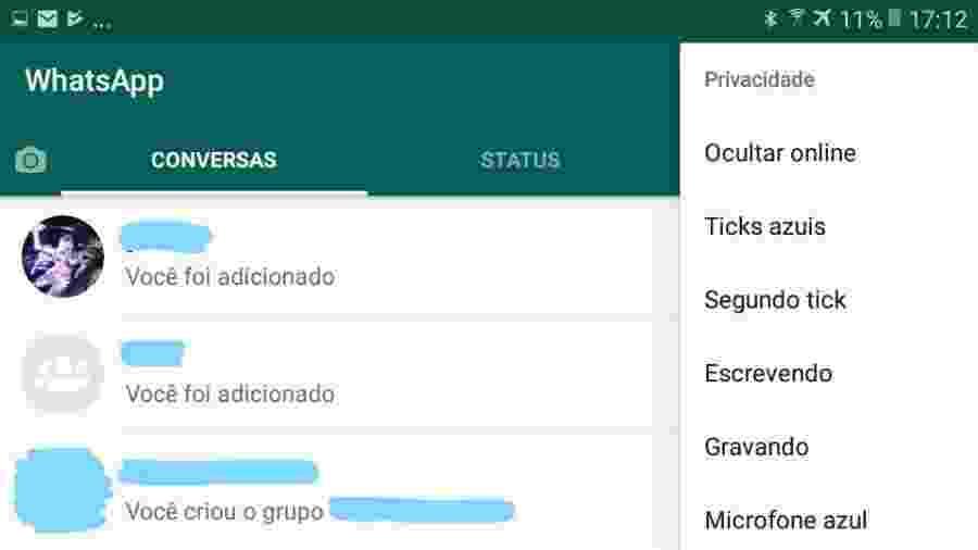 """GB WhatsApp, uma das versões """"proibidonas"""" do aplicativo - Reprodução"""