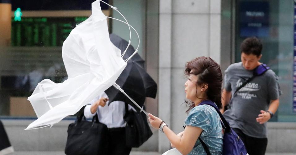 4.set.2018 - Tufão Jebi atinge Tóquio, capital do Japão