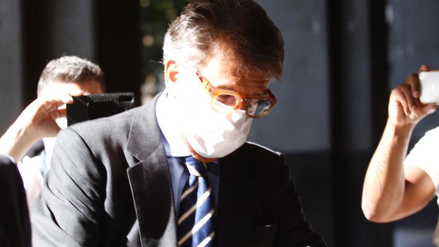 21.mai.2020 - Paulo Marinho chega ao prédio do MPF do Rio para prestar depoimento sobre suposto vazamento da PF a Flávio Bolsonaro sobre a Operação Furna da Onça - JOSE LUCENA/FUTURA PRESS/FUTURA PRESS/ESTADÃO CONTEÚDO