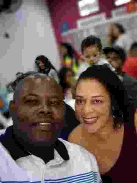 Marcelo Monteiro Silva, 46, baleado por PM, ao lado da mulher, Cirlene Maria da Conceição, 40 - Arquivo Pessoal - Arquivo Pessoal