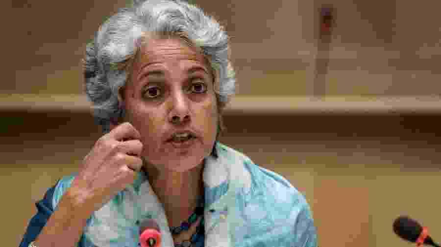 Cientista-chefe da OMS, Soumya Swaminathan, durante entrevista coletiva em Genebra - Reprodução