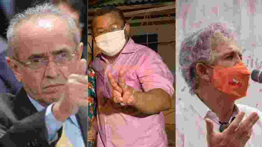 Cícero Lucena (PP), Nilvan Ferreira (MDB) e Ricardo Coutinho (PSB), candidatos à prefeitura de João Pessoa - Pedro França/Agência Senado e Reprodução/Facebook