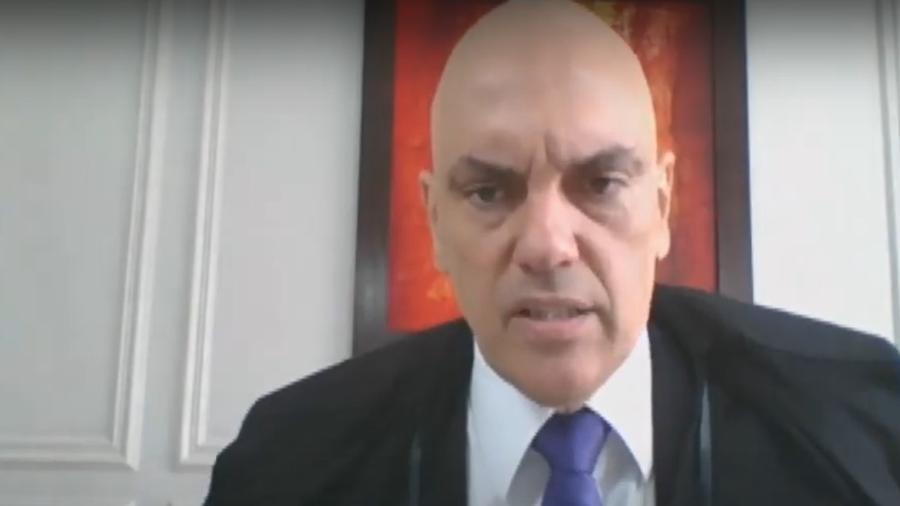 """O ministro do STF Alexandre Moraes ressaltou a necessidade de """"combate efetivo"""" à prática das """"rachadinhas"""" - Reprodução/TV Justiça"""