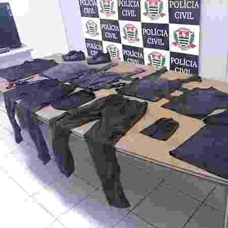 Presos usaram peças íntimas e outros tecidos para forjar uniformes de equipe de segurança em presídio de SP - Divulgação/SAP