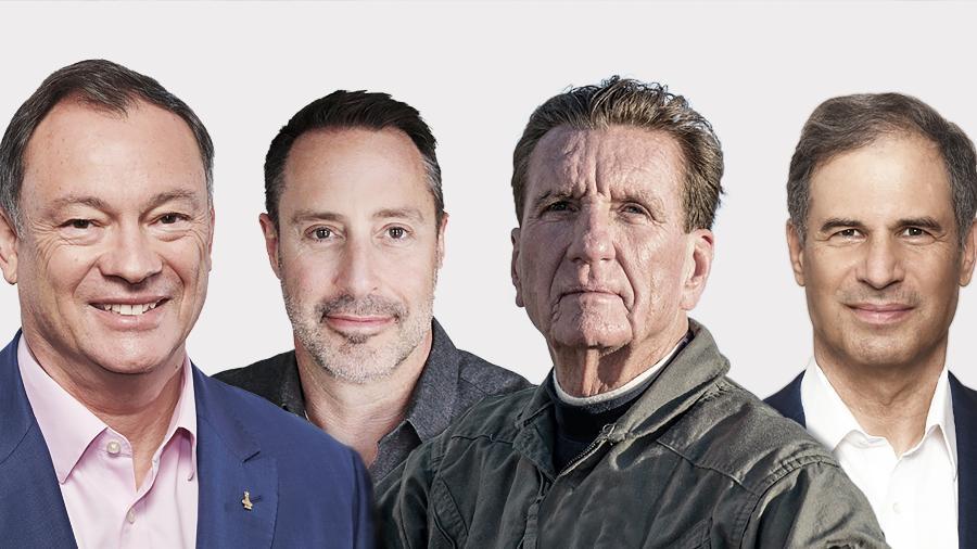 Da esquerda para a direita: o vice-presidente da Axiom, Michael Lópex-Alegría; o investidor canadense Mark Pathy; o empresário americano Larry Connor; e o empresário israelense Eytan Stibbe - Divulgação/Axiom
