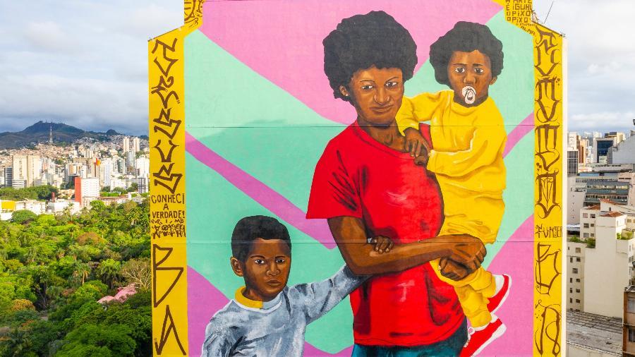 Mural no centro de BH é alvo de investigação - Divulgação/Cufa