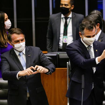 O presidente Jair Bolsonaro e os chefes do Senado, Rodrigo Pacheco, e da Câmara, Arthur Lira - Adriano Machado/Reuters
