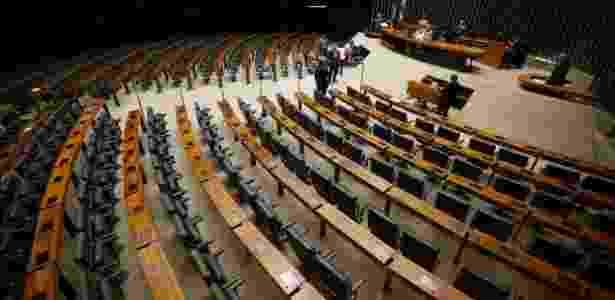 12.ago.2016 - Plenário da Câmara dos Deputados ficou vazio durante sessão  - Pedro Ladeira/Folhapress