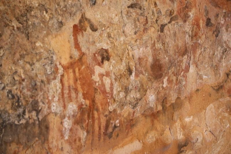 30.nov.2016 - A FPI (Fiscalização Preventiva Integrada) do rio São Francisco descobriu desenhos pré-históricos inéditos em sítios arqueológicos localizados no território do assentamento Nova Esperança, na região do Purdinho, Alagoas