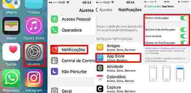 Notificações iOS apps - Reprodução - Reprodução