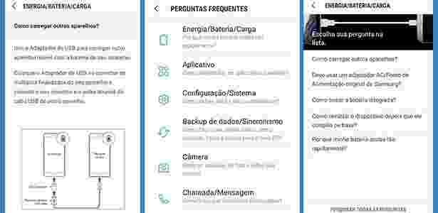 6,7,8 - App gratuito de suporte ajuda com diagnóstico em celulares Samsung - UOL - UOL