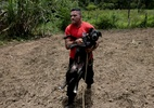 Resgate de cachorro evidencia situação de animais no desastre em Brumadinho - Pedro Ladeira/Folhapress