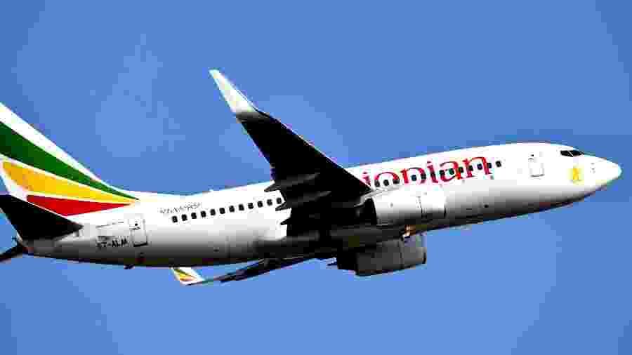 Imagem de arquivo de um avião modelo Boeing 737-700 da companhia Ethiopian Airlines - AFP - 28.nov.2017