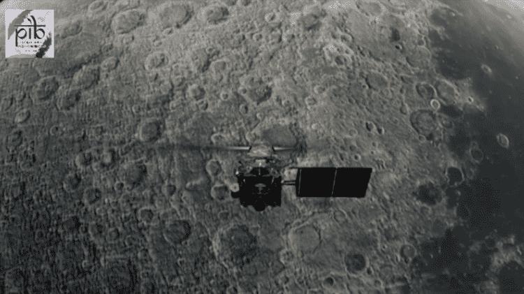 Arte do módulo Vikram, que faz parte do projeto indiano Chandrayaan-2 para explorar novas regiões da Lua - Reprodução/YouTube - Reprodução/YouTube