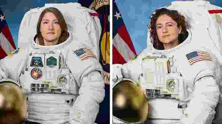 As astronautas Christina Koch e Jessica Meir - Nasa/Divulgação
