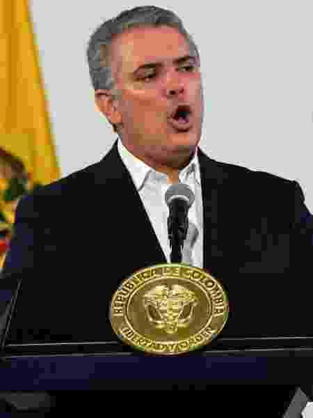 Em Bogotá, o presidente da Colômbia, Iván Duque, concede entrevista - Juan Barreto/AFP