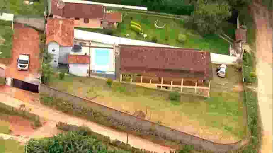 Chácara fica em Cotia - Reprodução/Globonews