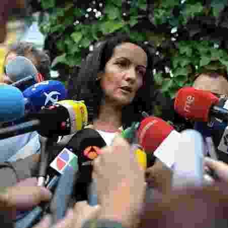 8.out.2020 - Diretora de saúde da comunidade de Madri, Yolanda Fuentes, em entrevista a jornalistas - Denis Doyle/Getty Images