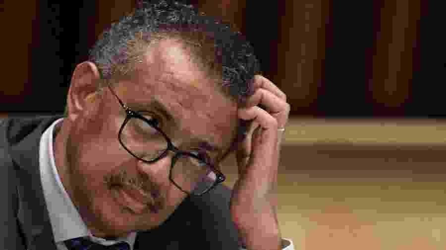 Tedros Adhanom Ghebreyesus, diretor-geral da OMS (Organização Mundial da Saúde) - Fabrice COFFRINI / POOL / AFP