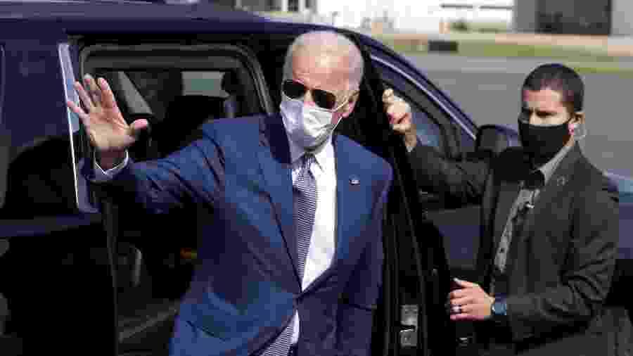 O democrata Joe Biden chega a Kenosha, em Wisconsin, cidade onde Jacob Blake foi baleado - Getty Images