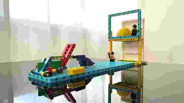 Lego Education: lança bola - Bruna Souza Cruz/Tilt - Bruna Souza Cruz/Tilt