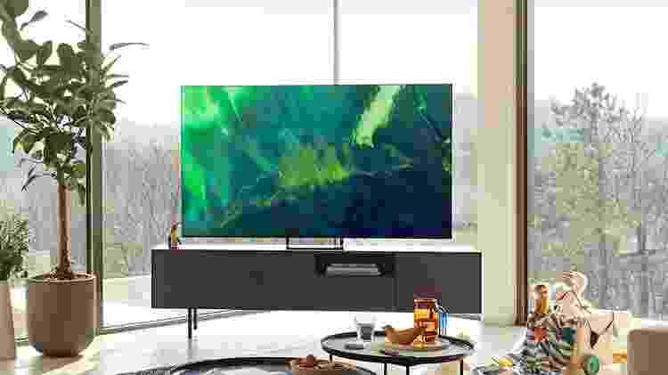 TV Samsung QLED Q70A - Divulgação - Divulgação