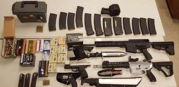 Scott Edminsten foi preso carregando grande quantidade de armas e munição nos EUA